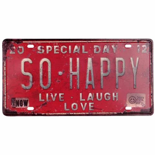 Amerikaans nummerbord - So Happy, special day