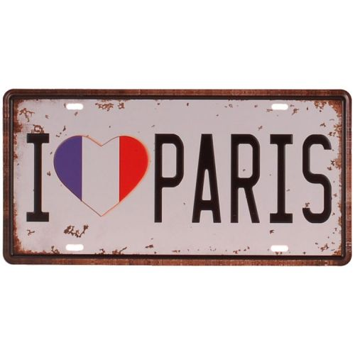 Amerikaans nummerbord - I love Paris