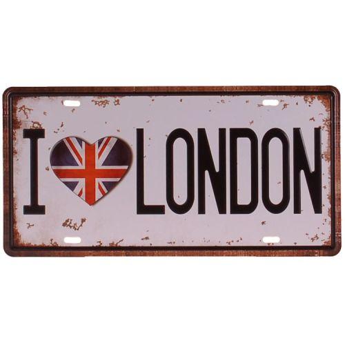 Amerikaans nummerbord - I love London