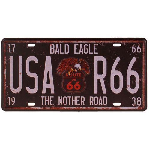 Amerikaans nummerbord - Route 66 Bald Eagle