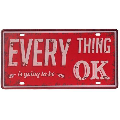 Amerikaans nummerbord - Everything OK