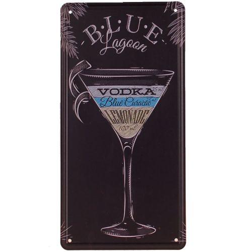 Amerikaans nummerbord - Blue Lagoon Cocktail