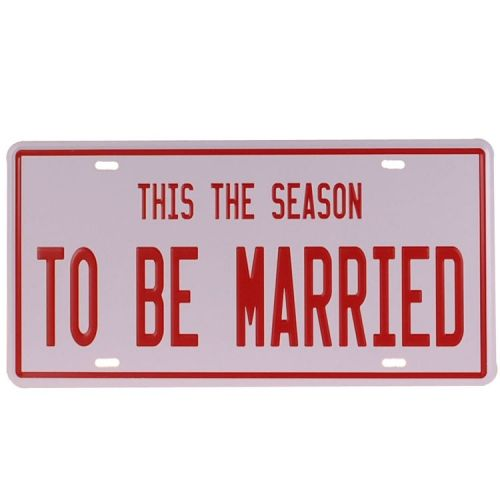 Amerikaans nummerbord - To Be Married