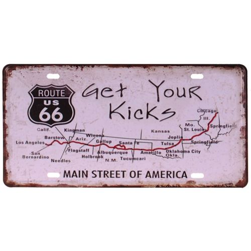 Amerikaans nummerbord - Route 66 - Get Your Kicks