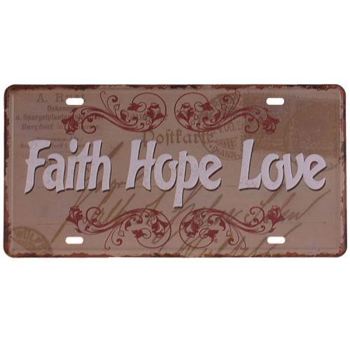 Amerikaans nummerbord - Faith Hope Love