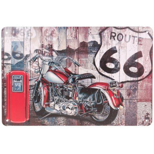 Metalen plaatje - Motor Route 66