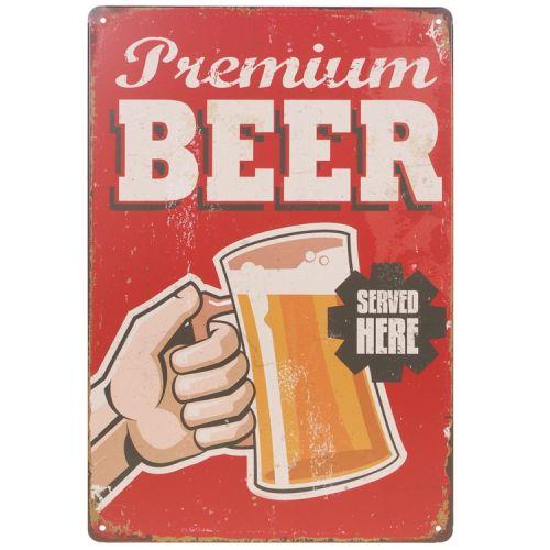 Metalen plaatje - Premium Beer