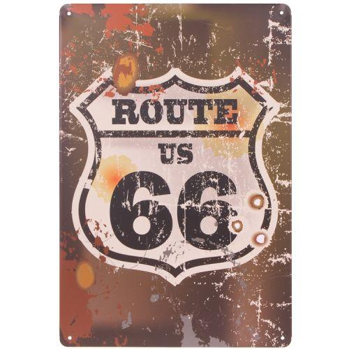 Metalen plaatje - Route 66