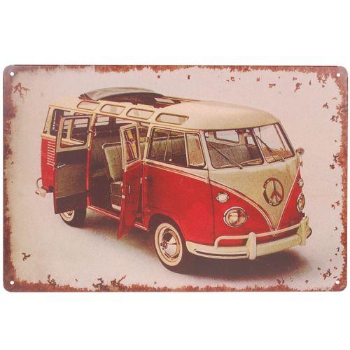 Metalen plaatje - Volkswagen busje