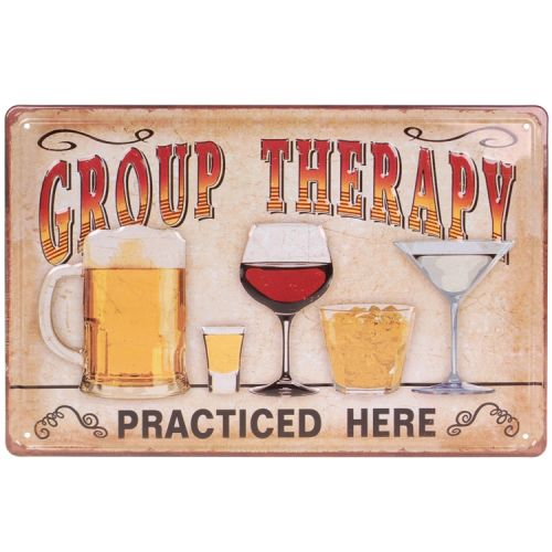 Metalen plaatje - Group Therapy