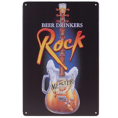 Metalen plaatje - Beer Drinkers Rock
