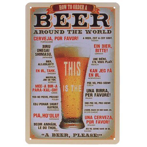 Metalen plaatje - Beer Around The World