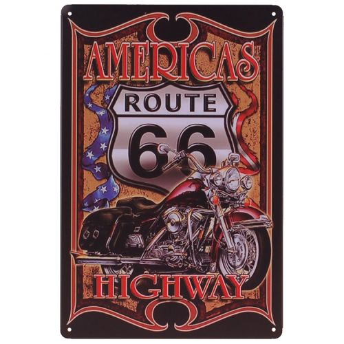 Metalen plaatje - America's Highway Route 66