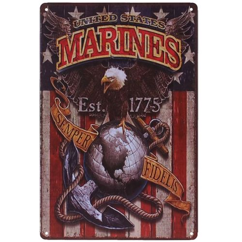 Metalen plaatje - United States Marines