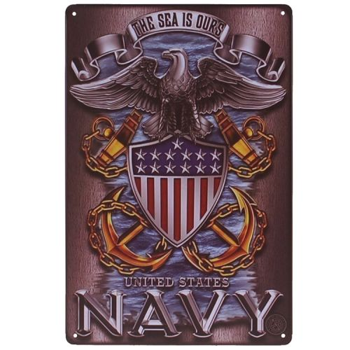 Metalen plaatje - United States Navy