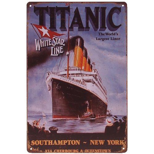 Metalen plaatje - Titanic