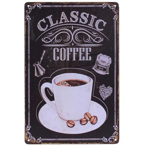 Metalen plaatje - Classic Coffee