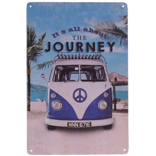 Metalen plaatje - Volkswagen busje - Journey