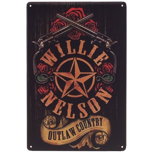 Metalen plaatje - Willie Nelson