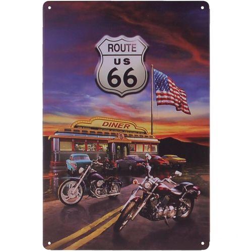 Metalen plaatje - Route 66 Motor Diner