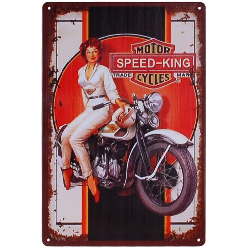 Metalen plaatje - Motor Cycles Speed King
