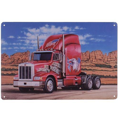 Metalen plaatje - MACK Vrachtwagen Road Rebel