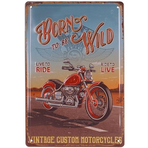 Metalen plaatje - Motor Born to be Wild