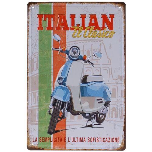 Metalen plaatje - Italian El Clasico - Vespa