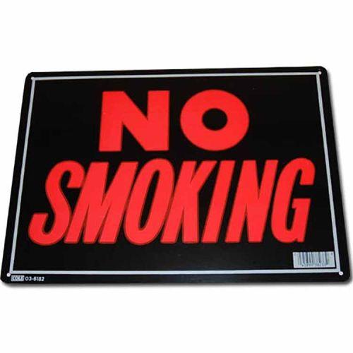 Metalen plaatje - No smoking