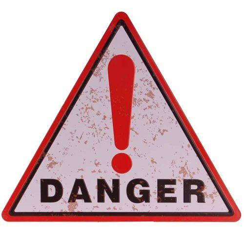 Metalen driehoek - Danger