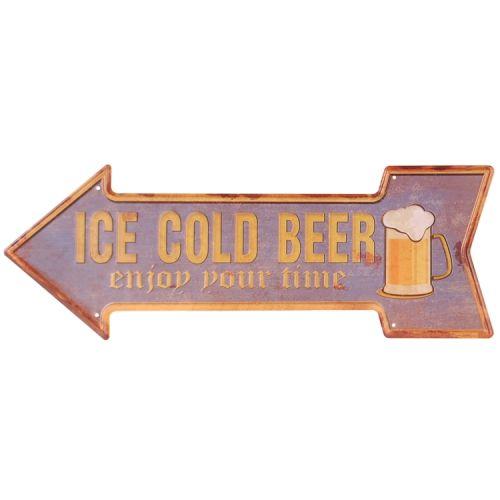 Metalen pijl - ice cold beer