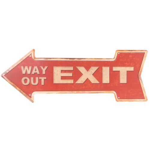Metalen pijl - Exit