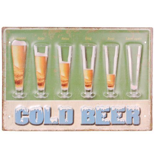 Metalen plaat - cold beer