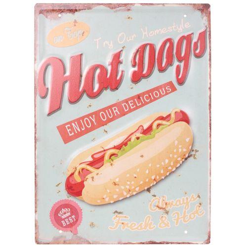 Metalen plaat - hotdogs