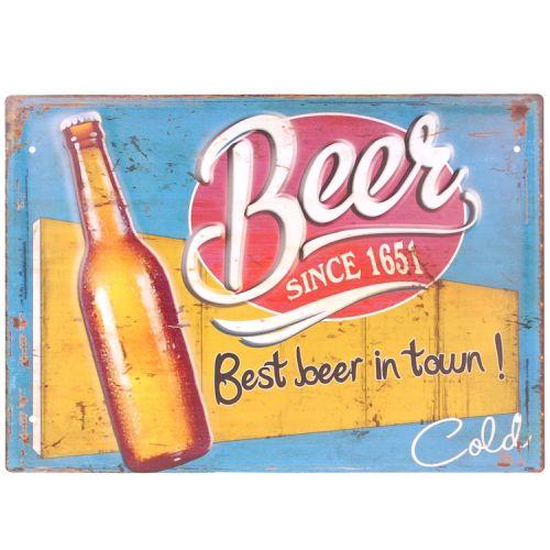 Metalen plaat - Beer since 1651