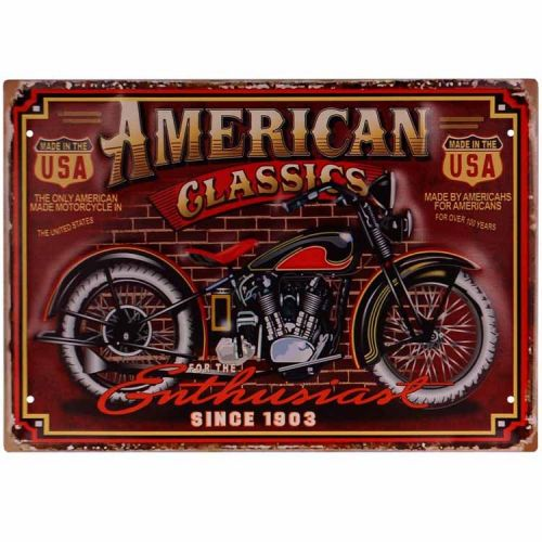 Metalen plaat - Motor, American Classics
