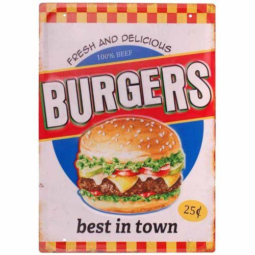 Metalen plaat - Burgers, best in town