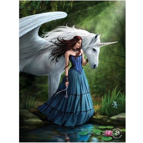 3d poster - Anne Stokes - Eenhoorn Enchanted Pool