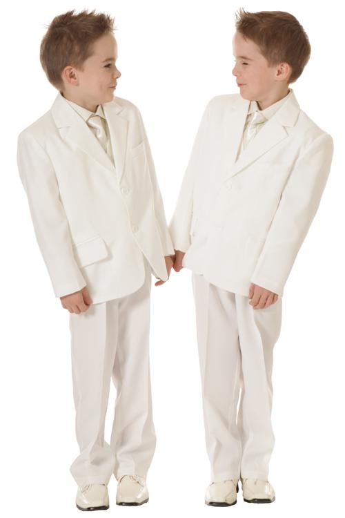 Jongens kostuum ivoor - off white- 86