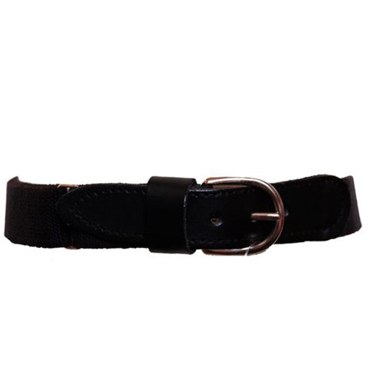 Een elastische zwarte kinderriem van een hoogwaardige kwaliteit. de lengte van de riem is verstelbaar. de ...
