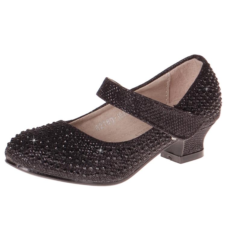b2e3cd6297e Stijlvolle zwarte feestschoenen. de schoenen zijn rondom bezet met zwarte  strass steentjes. onder de