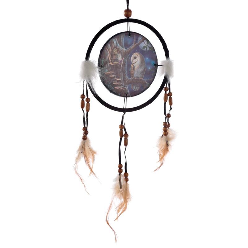 Puckator Dromenvanger uil 16cm Lisa Parker - Fairy tales owl and fairy